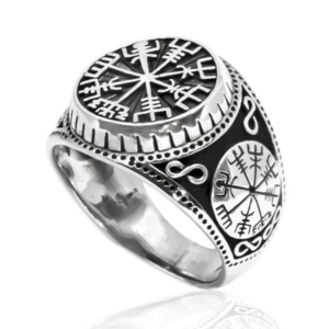 Sterling Silver Viking Compass Ring