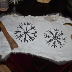 helm of awe and vegvisir, icelandic magical staves-Norse Symbol