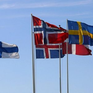 why do 5 nordic countries have crosses on their flags