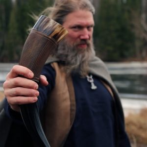 what is a Viking drinking horn in history